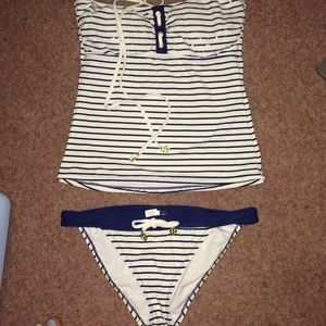 Sperry Top-Sider Two Piece Striped Swimsuit